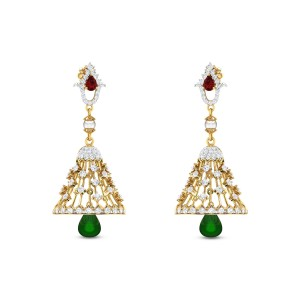 Chamaelaucium Diamond Earrings