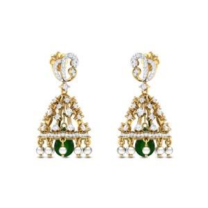 Paphiopedilum Diamond Earrings