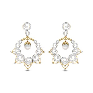 Twinkling Snail Diamond Earrings