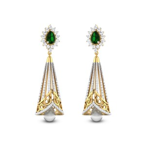 Floral Bell Diamond Earrings