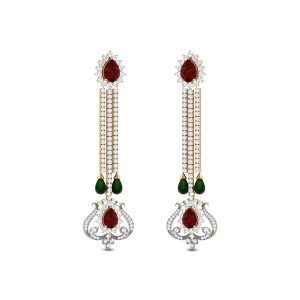 Narcissus Drop Diamond Earrings