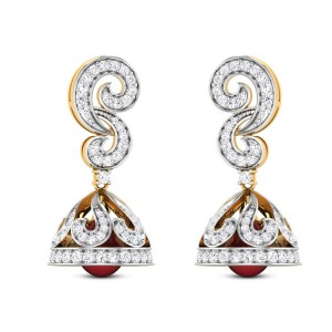 Medusa Ruby Drop Diamond Jhumkas