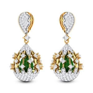 Morpheus Emerald and Diamond Earrings
