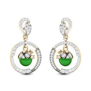 Aryahi Emerald Drop Hanging Earrings