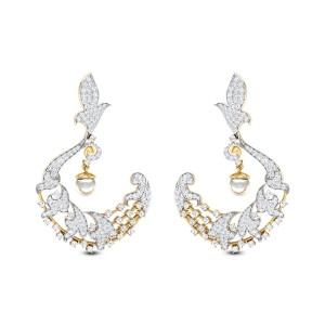 Ishana Pearl Drop Chandelier Earrings