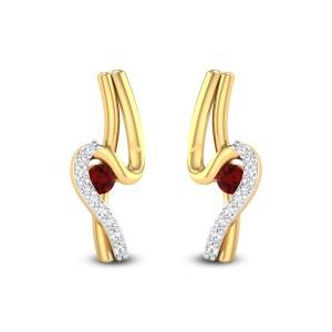 Pragalbha Ruby Stud Earrings