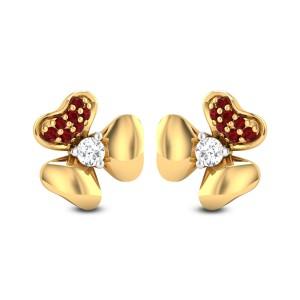 Tanisi Ruby Diamond Stud Earrings