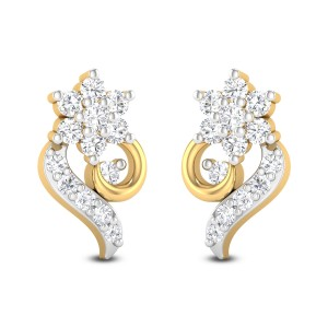 Star Chank Diamond Stud Earrings