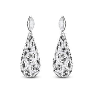 Flynn Diamond Hanging Earrings