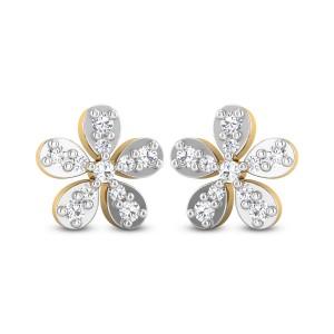 Harlyn Floral Diamond Stud Earrings