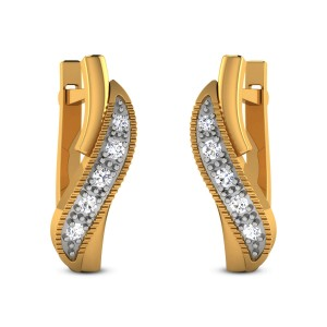 Ganika Diamond Hoop Earrings