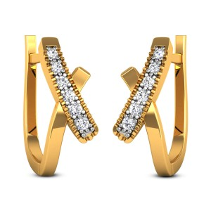 Gloshini Diamond Hoop Earrings