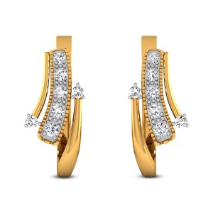 Husnika Diamond Hoop Earrings
