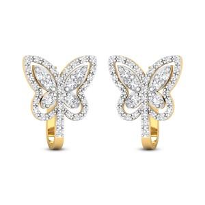 Palmira Butterfly Diamond Hoop Earrings
