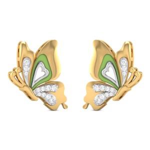 Joiya Butterfly Diamond Stud Earrings