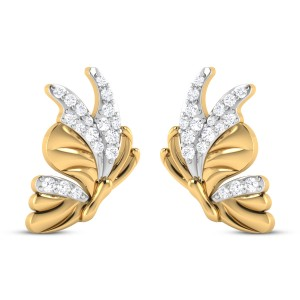 Jodelle Butterfly Diamond Stud Earrings