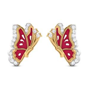 Joanne Butterfly Diamond Stud Earrings
