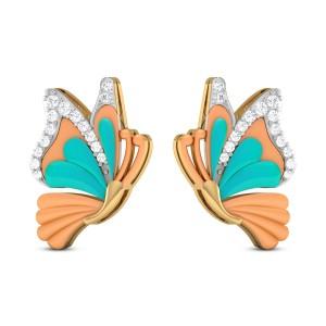 Jiya Butterfly Diamond Stud Earrings
