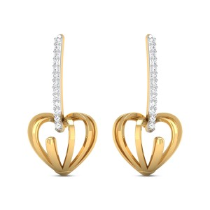 Naila Diamond Heart Earrings
