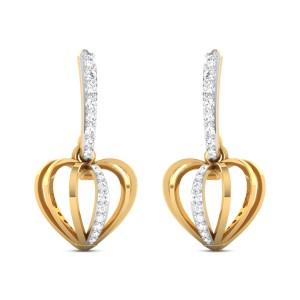 Nalleli Diamond Heart Earrings