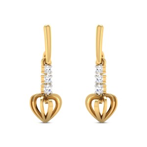 Nanea Diamond Heart Dangler Earrings