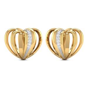 Natia Diamond Heart Hoop Earrings
