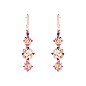 Agapius Diamond Dangler Earrings