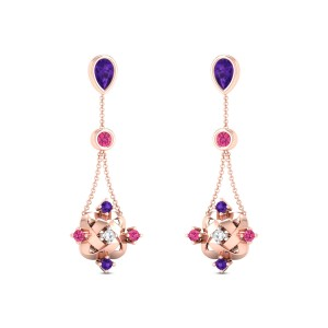 Amor Diamond Dangler Earrings