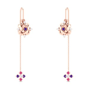Aiko Diamond Sui Dhaga Earrings