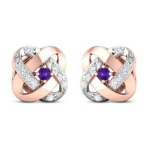 Amorette Diamond Stud Earrings