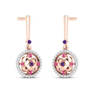 Aphrodite Diamond Dangler Earrings