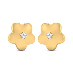 Aliza Girl's Yellow Gold Diamond Earrings