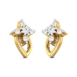 Shaheen leafy Diamond Earrings
