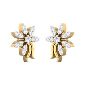 Haseen Floral Diamond Earrings