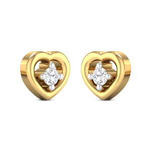 Natalie Heart Diamond Earrings