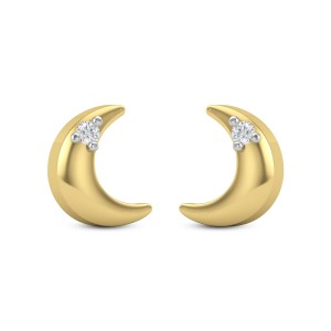 Cressa crescent Diamond Earrings