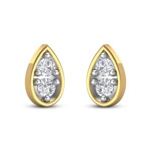 Arya pear Diamond Earrings
