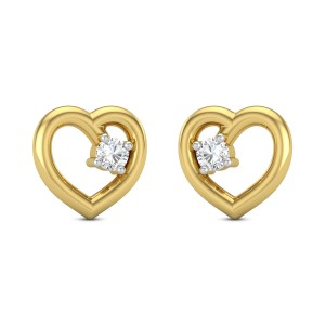 Arfa heart Diamond Earrings
