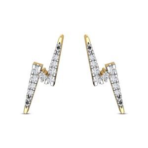 Aura lightening bolt Diamond Earrings