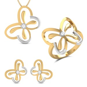 Sophia Butterfly Diamond Jewellery Set