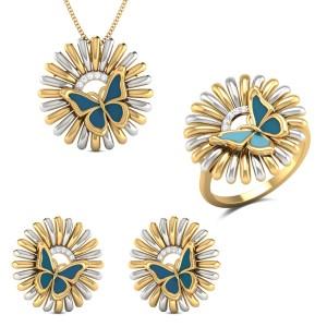 Mia Butterfly Diamond Jewellery Set