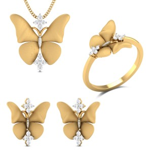 Abigail Butterfly Diamond Jewellery Set
