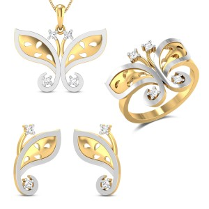 Charlotte Diamond Jewellery Set