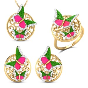 Aporia Butterfly Diamond Jewellery Set