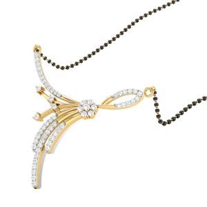 Vinca Diamond Mangalsutra