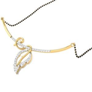 Fern Diamond Mangalsutra