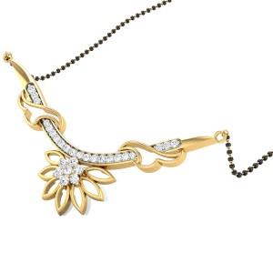 Floral Horn Diamond Mangalsutra