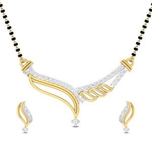 Delaney Diamond Mangalsutra Set