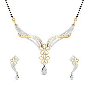 Britta Floral Diamond Mangalsutra Set