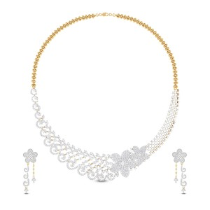 Kameela Floral Diamond Necklace Set